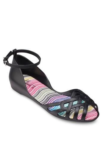 果凍交叉露趾繞踝涼zalora退貨鞋, 女鞋, 鞋