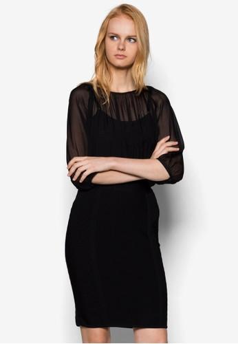 Rochzalora 鞋評價a 假兩件連身裙, 服飾, 洋裝