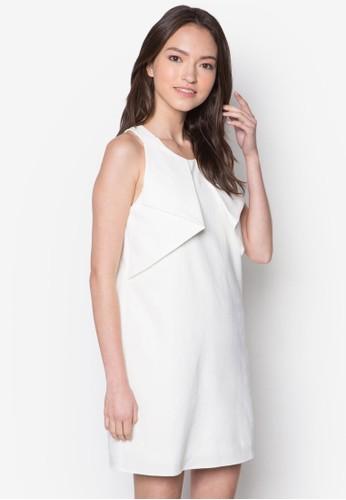 褶飾無袖連身裙zalora 衣服尺寸, 服飾, 洋裝