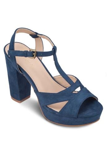 鏤空T 字帶厚底高跟鞋, zalora 心得女鞋, 細帶高跟鞋