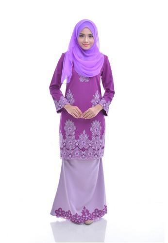 Maribeli Butik Melia Kurung –  Dark Purple Baby Purple from Maribeli Butik in Purple