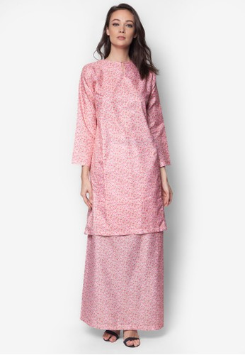 Poly Cotton Baju Kurung from Jennifer Creations in Pink