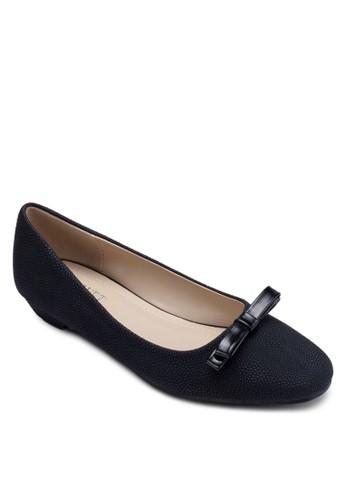 Blockish 蝴蝶結仿皮低跟鞋, 女鞋zalora 折扣碼, 鞋