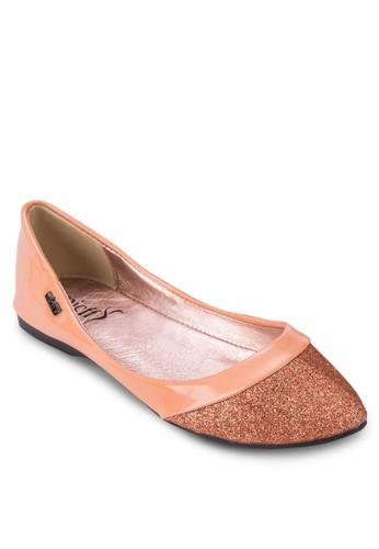 閃飾尖頭平zalora 心得底鞋, 女鞋, 鞋