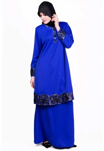 Baju Kurung With Bead And Lace  from ESPRIMA in Blue