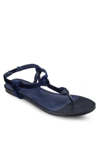 T 字帶繞踝涼鞋, 女鞋,zalora 台灣 涼鞋