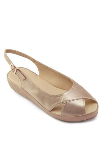 Lara 魚口踝帶涼鞋, 女鞋, 涼zalora鞋鞋