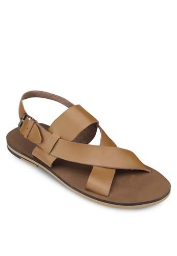 交叉寬帶繞踝涼鞋,zalora 鞋評價 鞋, 拖鞋