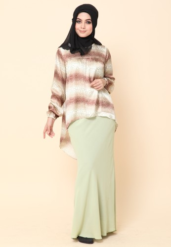 Mini Kurung Fishtail Light Cocoa from Dirs in Brown