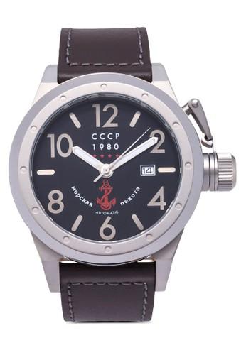 Deltzalora時尚購物網的koumi koumia 皮革圓錶, 錶類, 飾品配件