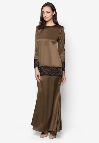 Sahara Kurung Modern from Izzabell Couture in Brown
