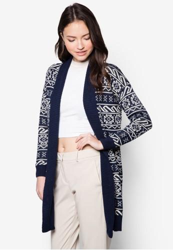 北歐風針織長版zalora 鞋評價外套, 服飾, 服飾