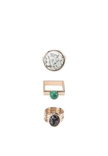 三入幾何造型戒指, mango陶瓷手錶飾品配件, 飾品配件
