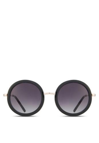 粗圓框太陽眼鏡zalora 鞋評價, 飾品配件, 飾品配件