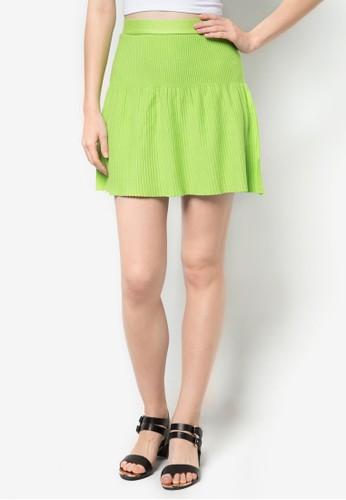 褶飾短裙, 服飾,zalora開箱 迷你裙