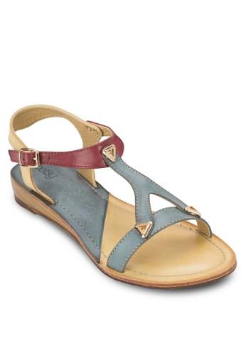 雙色鉚釘平底涼鞋, zalora 心得女鞋, 鞋