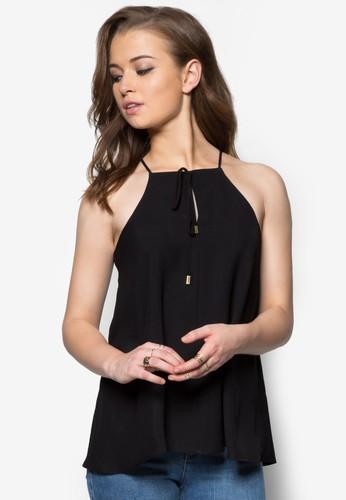 繫帶削zalora 評價肩上衣, 服飾, 服飾