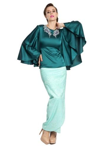 Reena Kurung Modern with Tulip Skirt from Rina Nichie in Green