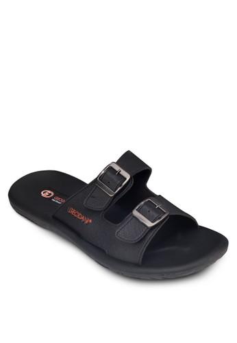 雙扣環帶zalora 手錶拖鞋, 鞋, 鞋
