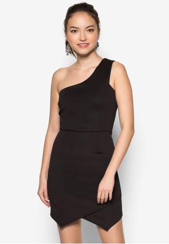 單肩裹式洋裝, 服飾zalora鞋子評價, 洋裝