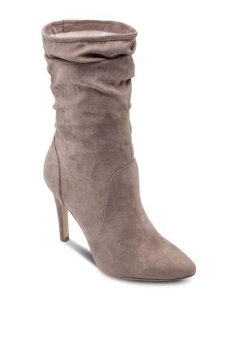 高跟中筒靴zalora 心得, 女鞋, 靴子