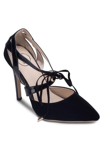 交叉zalora taiwan 時尚購物網帶高跟鞋, 女鞋, 鞋