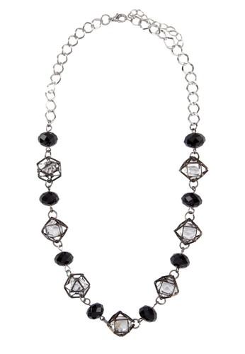 造型水晶串珠項鍊, 飾品配件, 飾品zalora 手錶 評價配件