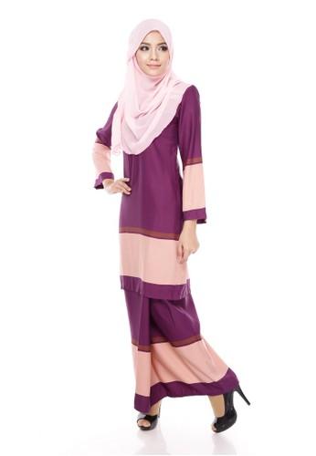 Royal Melly Kurung Moden – Byzantium Peach from Maribeli Butik in Purple