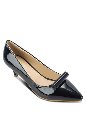 Thea 捲軸漆面高跟鞋, 女鞋,zalora鞋子評價 厚底高跟鞋