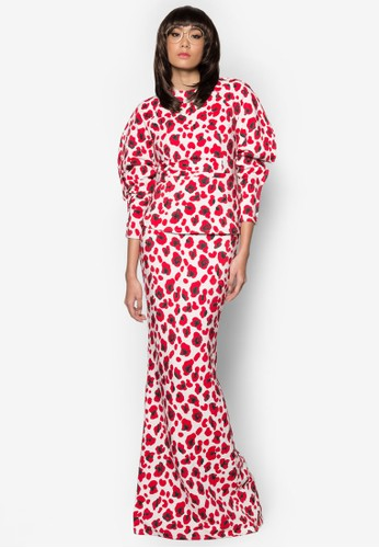 Kurung Semperit from Woo/Fiziwoo for Zalora in Red