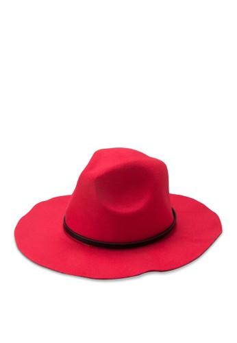 細皮帶寬簷紳士帽, 飾品配件, 飾zalora鞋品配件