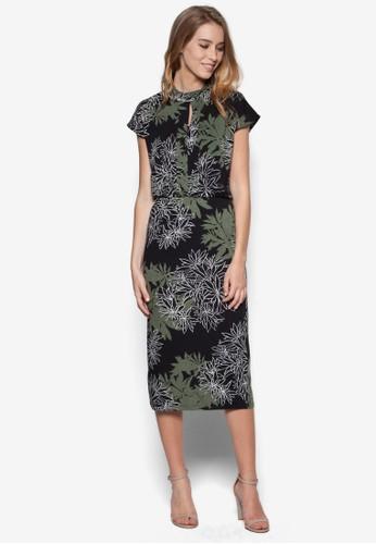 葉子印花高領洋裝, 服飾zalora 衣服尺寸, 正式洋裝