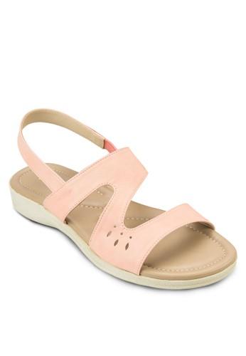 舒適繞踝平底涼鞋, 女鞋, 涼zalora開箱鞋