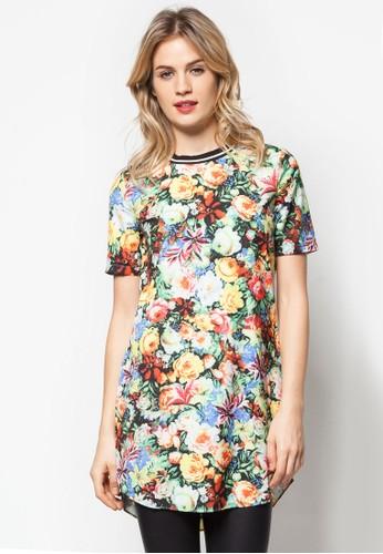 彩色碎花連身裙, 服zalora退貨飾, 服飾