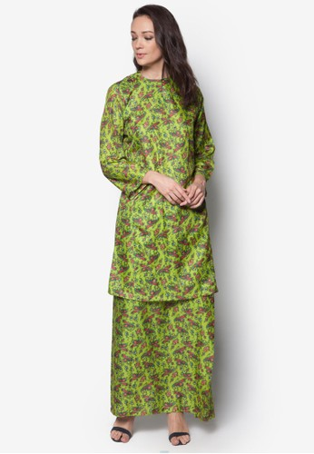 Poly Cotton Baju Kurung from Jennifer Creations in Green