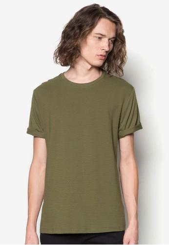 點點暗紋zalora鞋TEE, 服飾, T恤
