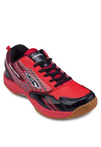SUPERMATCH zalora 包包評價拼色條紋運動鞋, 鞋, Footwear