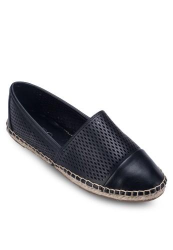Marjoria 沖孔拼接麻編懶人鞋, 女鞋zalora 鞋評價, 鞋
