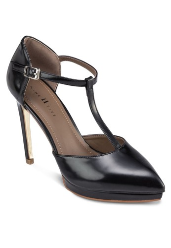 Azalora taiwan 時尚購物網鞋子laia T字帶尖頭高跟鞋, 女鞋, 鞋