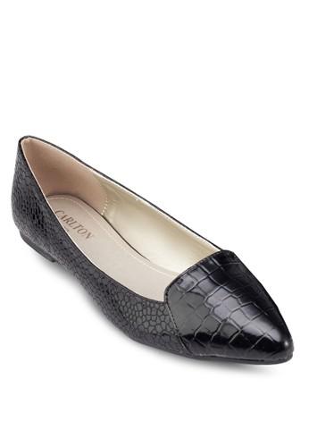 尖頭亮面平zalora鞋子評價底鞋, 女鞋, 芭蕾平底鞋