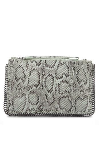 PU 蛇紋手拿包, 包, 飾品配mango 對錶件