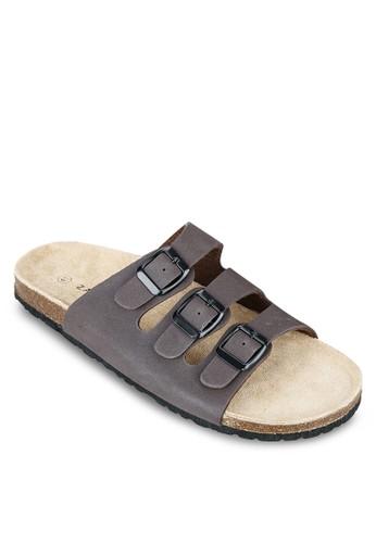 三扣環帶基本款拖鞋, zalora 台灣鞋, 鞋