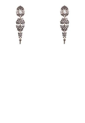 Kaenade 閃鑽垂zalora鞋墜耳環, 飾品配件, 飾品配件