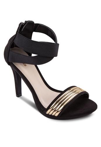 Uzalora 順豐RSULA 金屬一字帶高跟鞋, 女鞋, 鞋