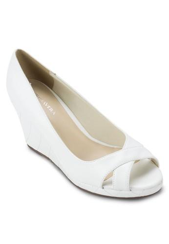 Coco 露趾菱格紋zalora 評價楔形鞋, 女鞋, 鞋