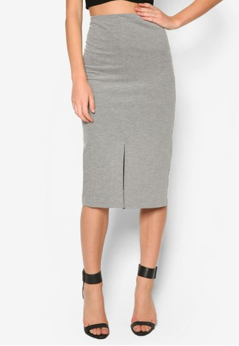 zalora 評價前開衩棉質及膝裙, 服飾, 服飾