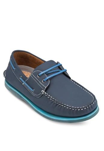 撞色繫zalora taiwan 時尚購物網帶船型鞋, 鞋, 鞋