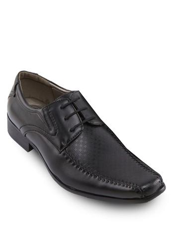 暗紋繫帶紳zalora taiwan 時尚購物網鞋子士皮鞋, 鞋, 休閒鞋
