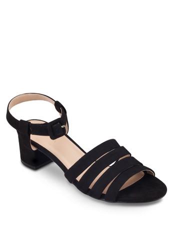 多帶繞踝方根涼鞋, 女鞋,zalora鞋子評價 細帶高跟鞋