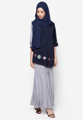 Elleeze Baju Kurung Kedah Dokoh from Elleeze Attire in Blue